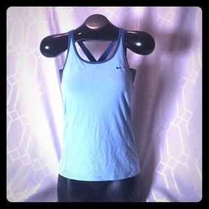 Nike tank top with built in sports bra size large